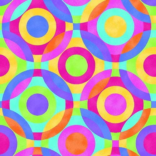 Multi Texture Circles Fabrics