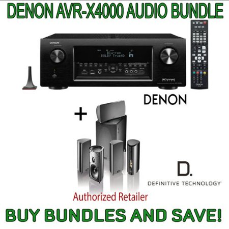 Denon AVR-X4000 7.2-Channel 4K Ultra HD Networking Home Theater AV Receiver with AirPlay & Definitive Technology Pro