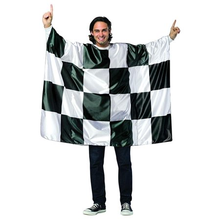 Checkered Flag Tunic Adult Costume - One - Tunic Costume
