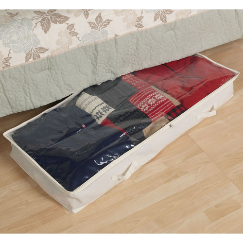 Household Essentials Natural Blended Canvas Underbed Chest