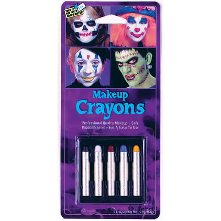 Assorted Makeup Crayons Adult Halloween Accessory, 5-Pack - Best Makeup To Use For Halloween