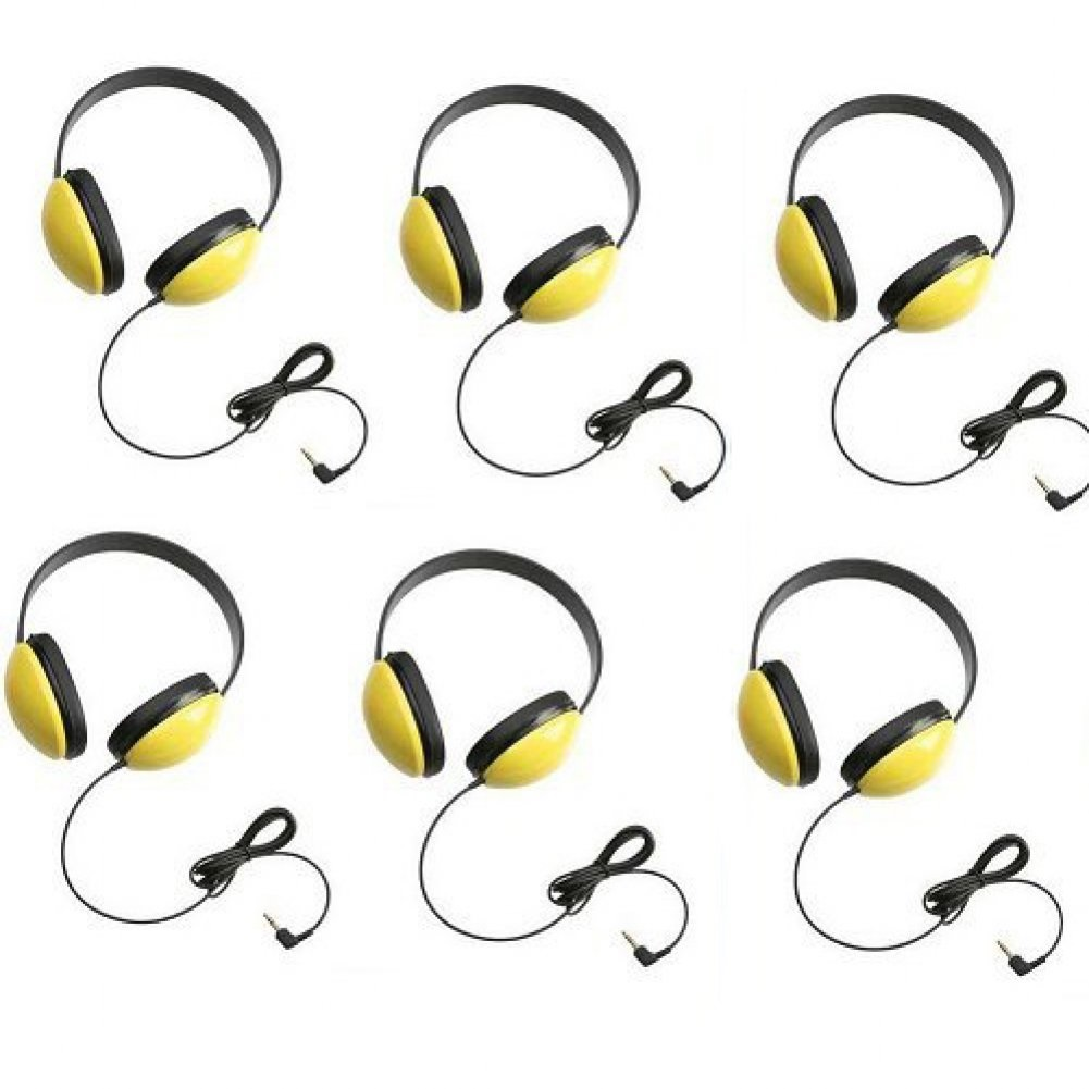 Califone 2800-YL Listening First Headphones in Yellow (Set of 6)
