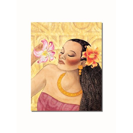 African American Black Girl and Flowers #1 Contemporary Wall Picture 8x10 Art Print