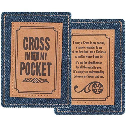 Denim-Cross in My Pocket-Message Card