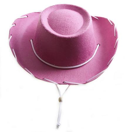 Children's Pink Felt Cowboy Hat - Childrens Pink Cowboy Hat