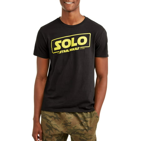 Star Wars Men's Solo Movie Logo Short Sleeve Graphic T-Shirt, up to Size 2XL (Personalized Star Wars)