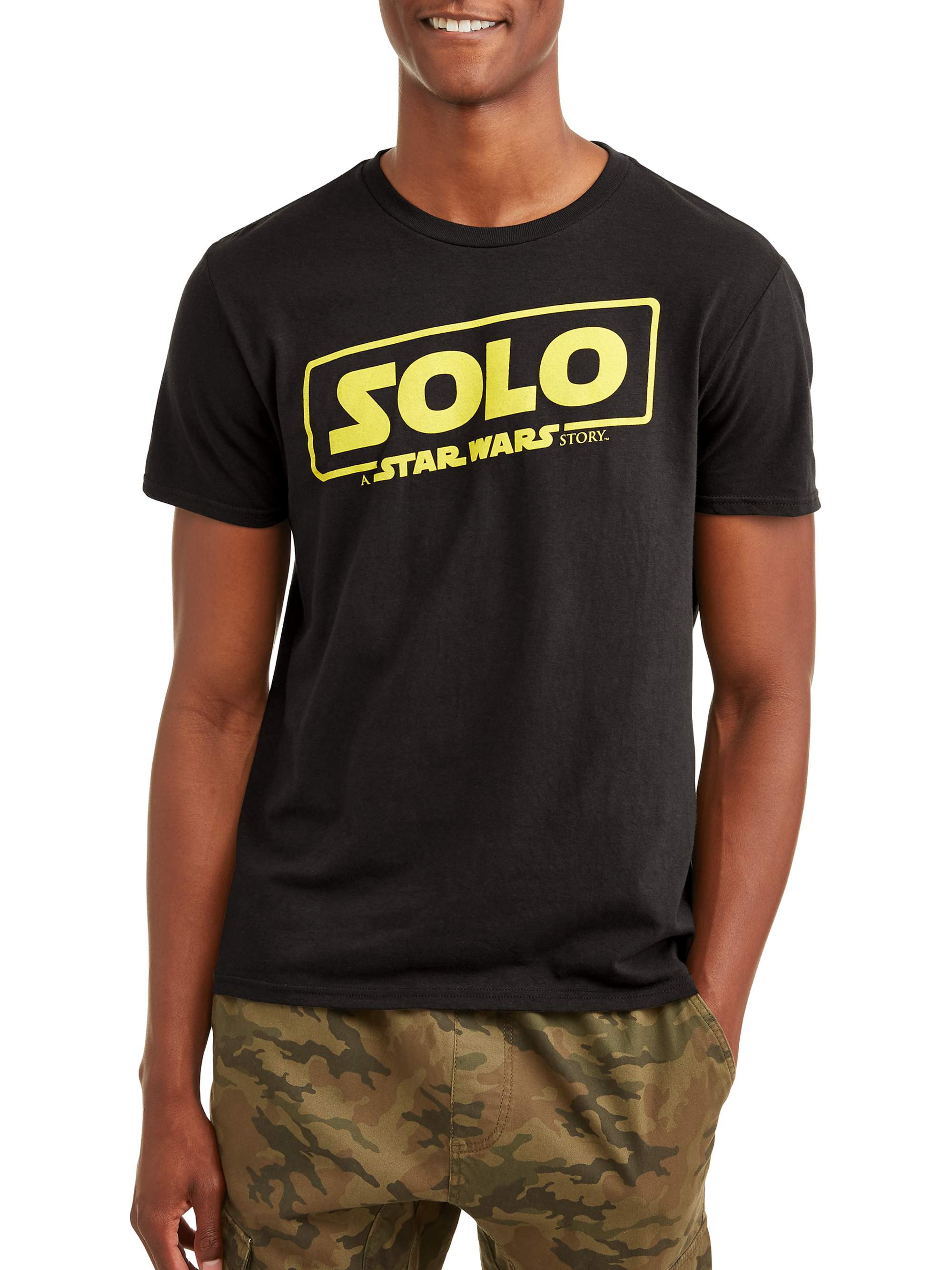 Star Wars Men's Solo Movie Logo Short Sleeve Graphic T-Shirt, up to Size 2XL