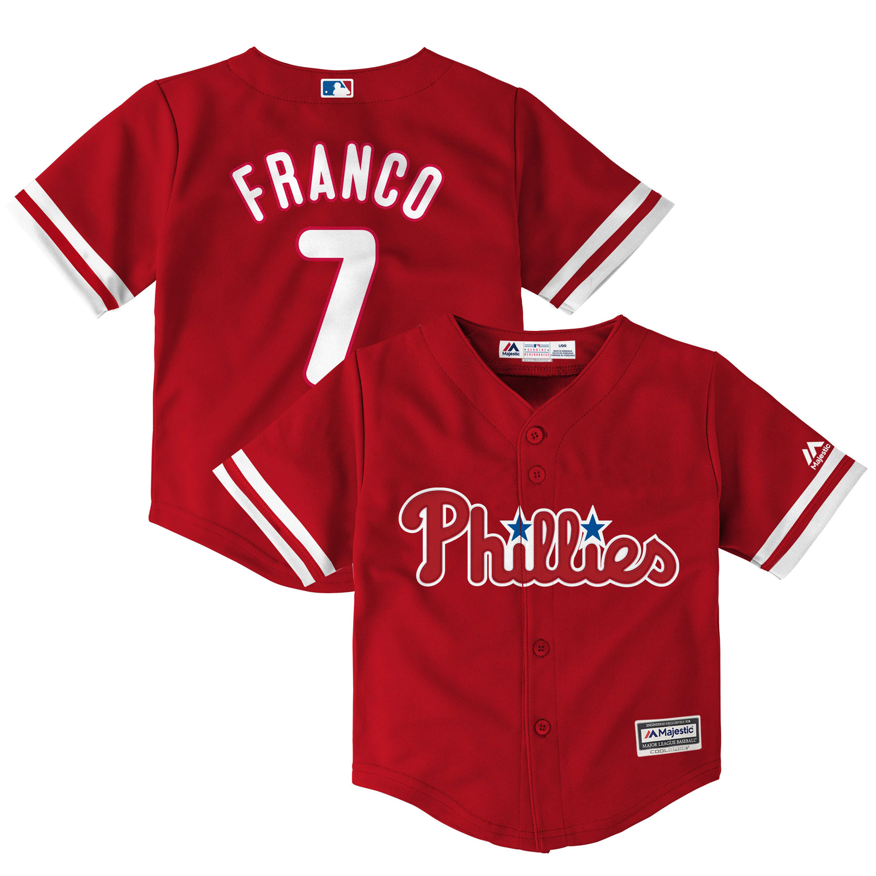 Maikel Franco Philadelphia Phillies Majestic Toddler Fashion Official Cool Base Player Jersey - Red