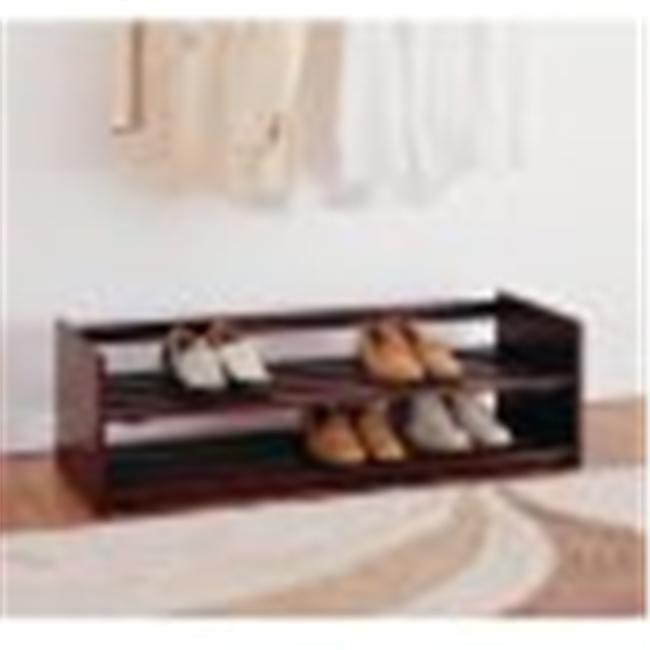 Organize It All 17081W Neu Home 2 tier Stackable Shoe Rac...