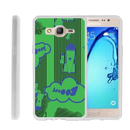- Samsung Galaxy On5 G550, Flexible Case [FLEX FORCE] Slim Durable TPU Sleek Bumper with Unique Designs - Booming Rockets