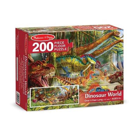 Melissa & Doug Dinosaur World Jumbo Jigsaw Floor Puzzle (200 pcs, over 4 feet