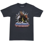He Man Masters of the Universe Battle Cat Cartoon Mighty Fine Adult T-Shirt Tee