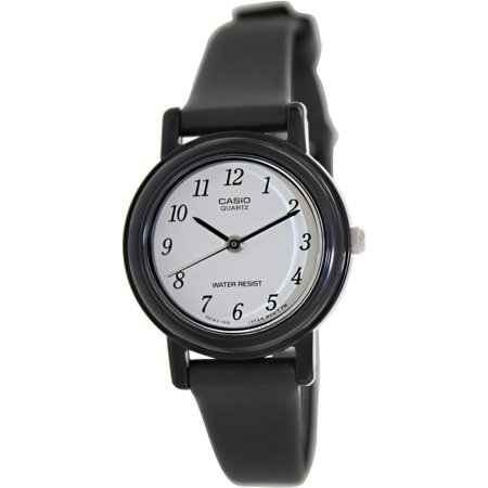 Casio women 39 s lq139bmv 1b black resin quartz watch for Black resin ladies watch
