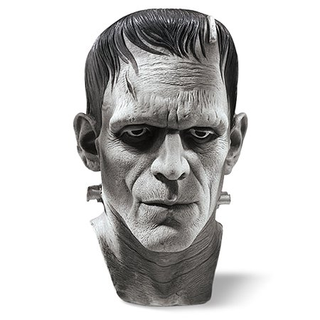 Wolf Latex Mask (Latex Mask - Silver Screen Edition Frankenstein's Monster - Adult Costume)