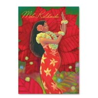 Boxed Christmas Cards Deluxe Hibiscus Hula
