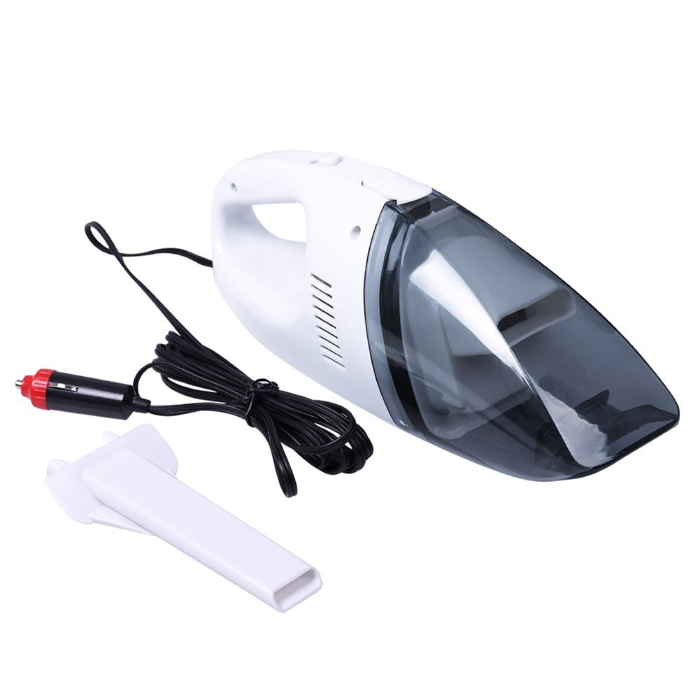 Yosoo Portable Handheld Automotive Cleaner,12V 60W Wet Dry Vacuum Cleaner Car Cleaner Tools with 2.3M Cord (White)