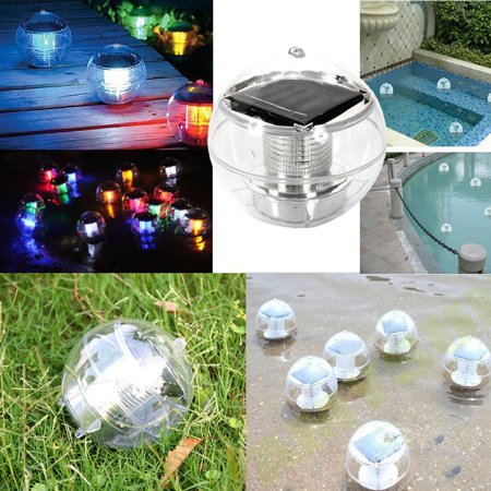 Solar Floating Pond Pool Rotate RGB Lamp LED Lawn Garden Light Color Changing, New and high quality, never used By