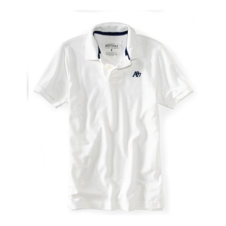 P S 09 From Aeropostale Mens Solid Color Uniform Logo Rugby Polo Shirt