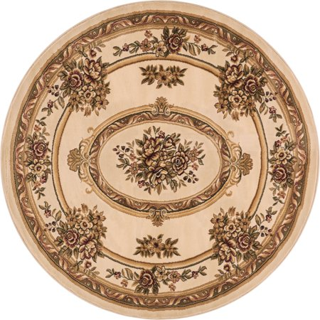 - Well Woven Pastoral Medallion Ivory French 5 Round (5'3