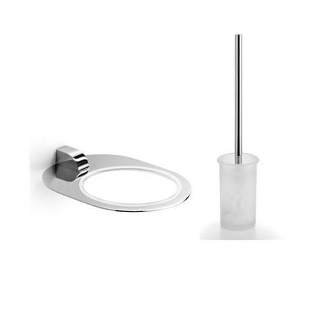 (WS Bath Collections Muci Wall MountedToilet Brush and Holder)