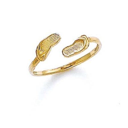 - 14k Yellow Gold Double Flip-Flop Toe Ring - .8 Grams