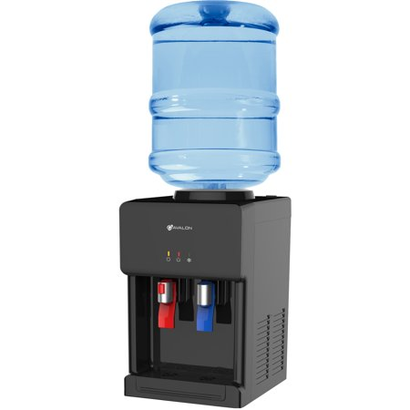 Safety Tip - Avalon Premium Hot/Cold Top Loading Countertop Water Cooler Dispenser With Child Safety Lock. UL/Energy Star Approved- Black
