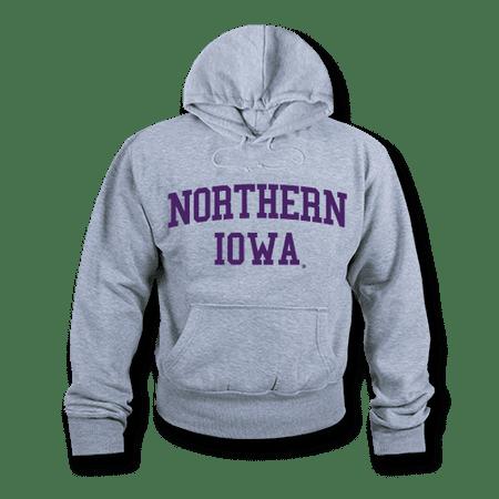 Iowa State College Fleece (NCAA Northern Iowa University Hoodie Sweatshirt Game Day Fleece Heather Grey Large )