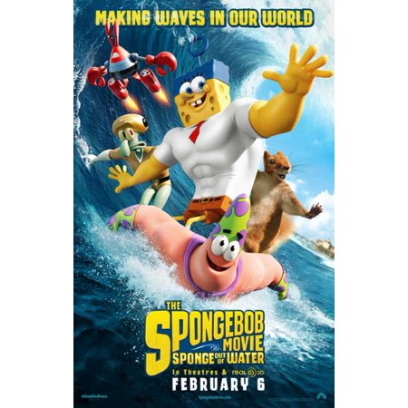 The Spongebob Movie Sponge Out Of Water Movie Poster  11 X 17