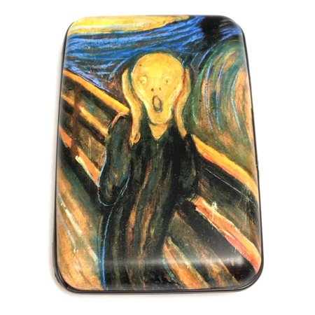 Data Wallet (Munch The Scream RFID Secure Data Theft Protection Credit Card Armored Wallet )