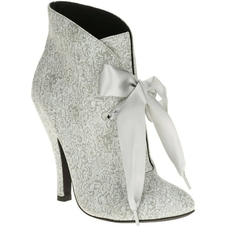 Mo Mo Womens Panda Vintage Bow Ankle Boot