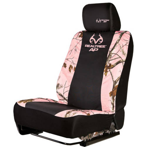 Realtree Pink Camouflage Low-Back Bucket Seat Cover, 2 Pack