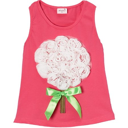 (Wenchoice Hot Pink Rose Bouquet Tank Girl's M(3T-4T))