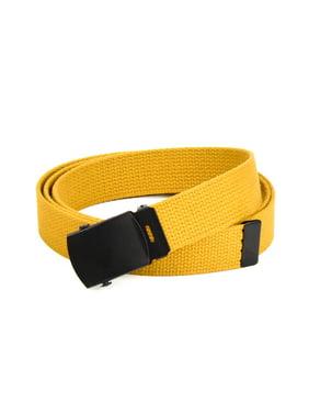 HoldEm Military Canvas Webbing Belts for MEN Black Slider Buckle Heavy Duty Adjustable