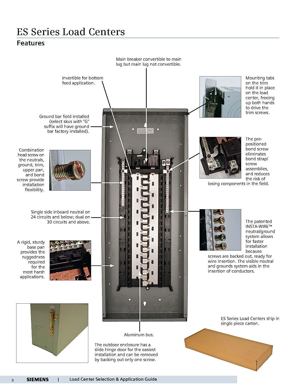 siemens s2020b1100p 20 space 20 circuit 100 amp main breaker indoor rh walmart com