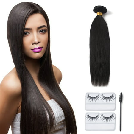 12-20inch Human Hair Bundle 7A Unprocessed Brazilian Virgin Hair Silky Straight/Body Wave Weave Wefts Extension Natural Color Full Head Unprocessed Natural Color Extensions