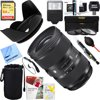 Sigma (588954) 24-35mm F2 DG HSM Standard-Zoom ART Lens for Canon SLR EF Cameras + 64GB Ultimate Filter & Flash Photography Bundle E18SG2435F2EOS Bundle Includes:Sigma 24-35mm F2 DG HSM Standard-Zoom ART Lens for Canon SLR EF Cameras64GB Extreme SDXC Memory UHS-I CardBounce Zoom Slave FlashMemory Card Reader, Card Wallet, Cleaning KitNeoprene Lens Pouch 8 w/ HookDust Removal Blower SystemLens Cap KeeperLCD/Lens Cleaning PenLens Hood Designed to eliminate sunlight distortion in your pictures.82mm UV, Polarizer & FLD Deluxe Filter kit (set of 3 + carrying case)Corel PaintShop Pro X9 Digital Download