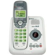 VTech CS6124 DECT 6.0 Cordless Phone with Answering System and Caller ID/Call Waiting, White with 1 Handset