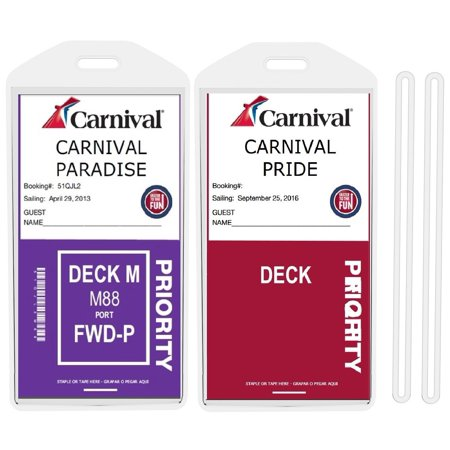 8 Pack Cruise Ship Luggage Tags  Wide  For Princess  Carnival  Costa  Holland America  P  And Norwegian