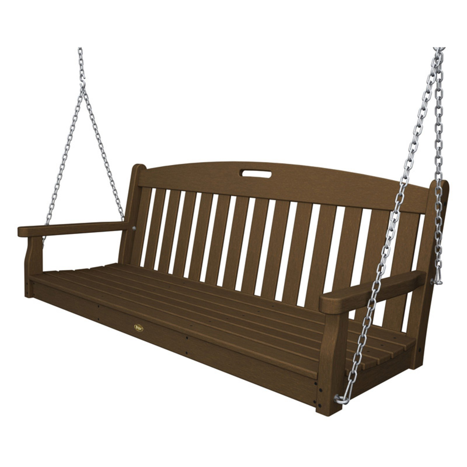 Polywood Trex Outdoor Furniture Recycled Plastic 5 ft. Yacht Club Porch Swing