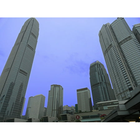 LAMINATED POSTER Hong Kong Skyscraper Building City Architecture Poster Print 24 x 36