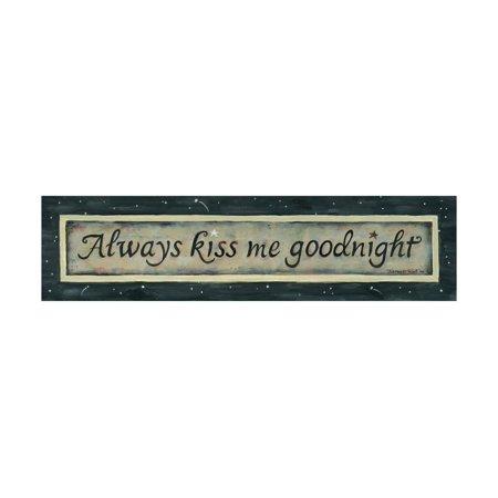 Always Kiss Me Goodnight Print Wall Art By Karen Tribett