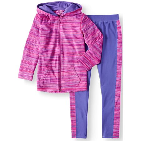 Chili Peppers Brushed Space Dye Hoodie and Legging, 2-Piece Active Set (Little Girls & Big Girls