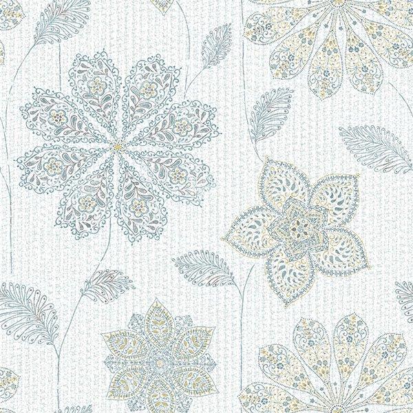 Nuwallpaper Gypsy Floral Blue Green Peel Stick Wallpaper Walmart Com Walmart Com