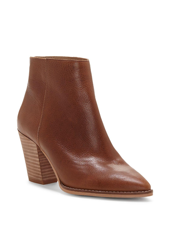 Adalan Leather Booties