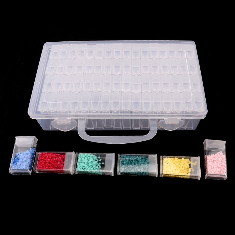 64Slot Diamond Painting Tool Embroidery Case 64 Grid Jewelry Drill Storage box 0