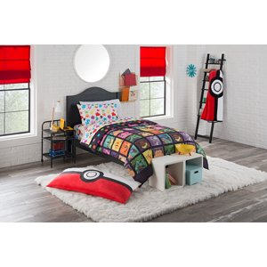 """Pokemon """"Kanto Favorites"""" 4 Piece Twin Bed in a Bag Bedding Set- Includes Comforter and Sheet Set"""