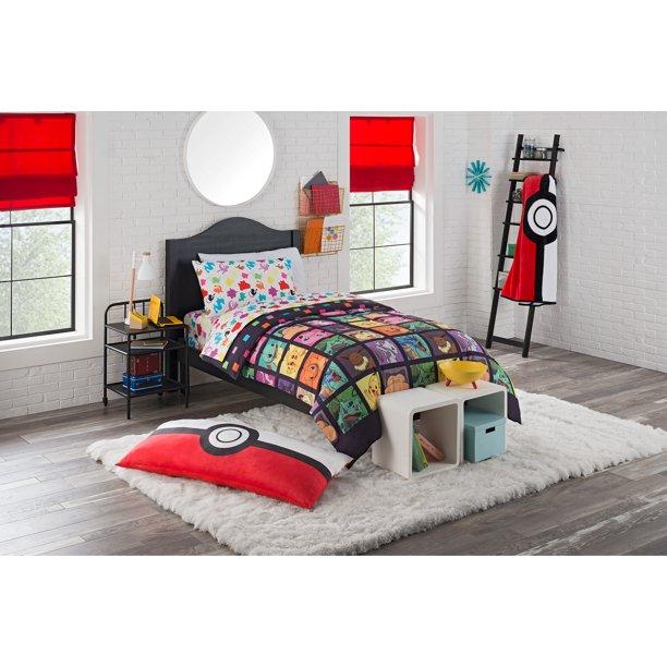 Pokemon Kanto Favorites 4 Piece Twin, Pokemon Bedding Queen Size