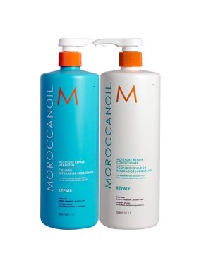 ($134 Value) Moroccanoil Moisture Repair Shampoo and Conditioner 33.8oz Combo Set