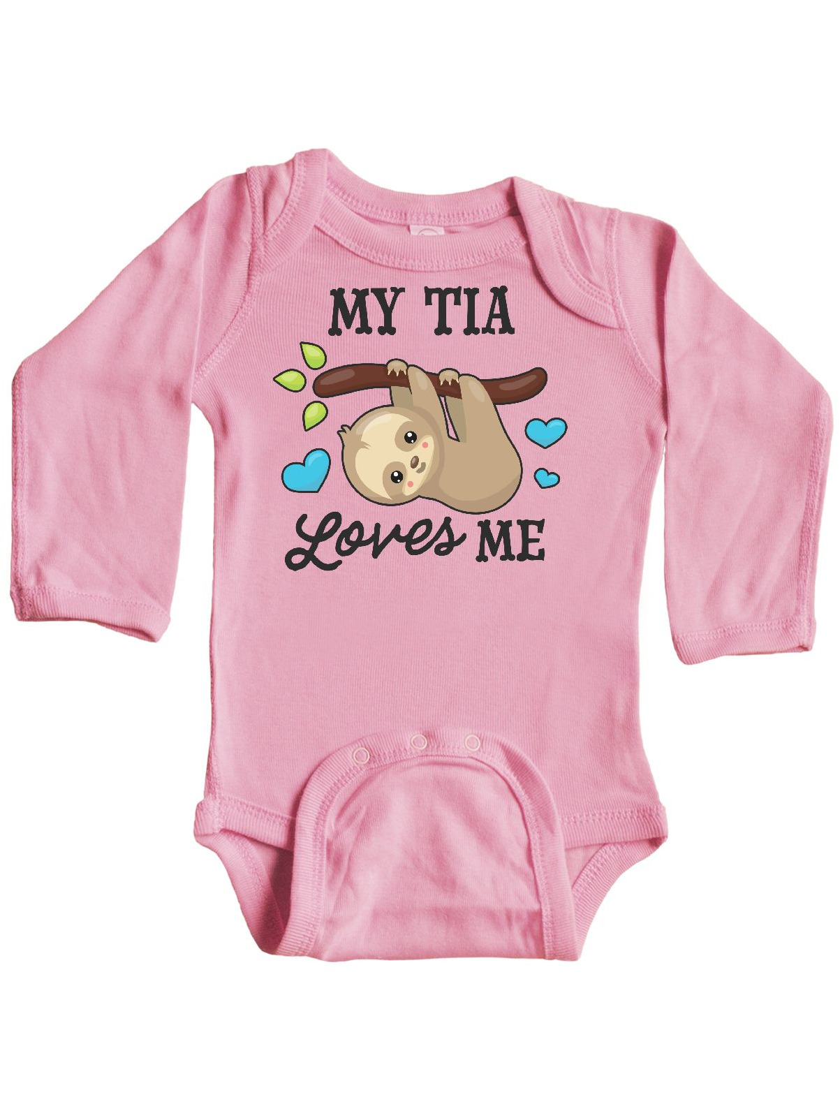 inktastic Valentine Sloth and Llama in Scarf Long Sleeve Creeper