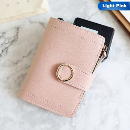 SHOPFIVE Best Small Women Luxury Leather Wallet Famous Brand Mini Women Purses Handbags Women`s Short Zipper Purse Coin Holder Credit